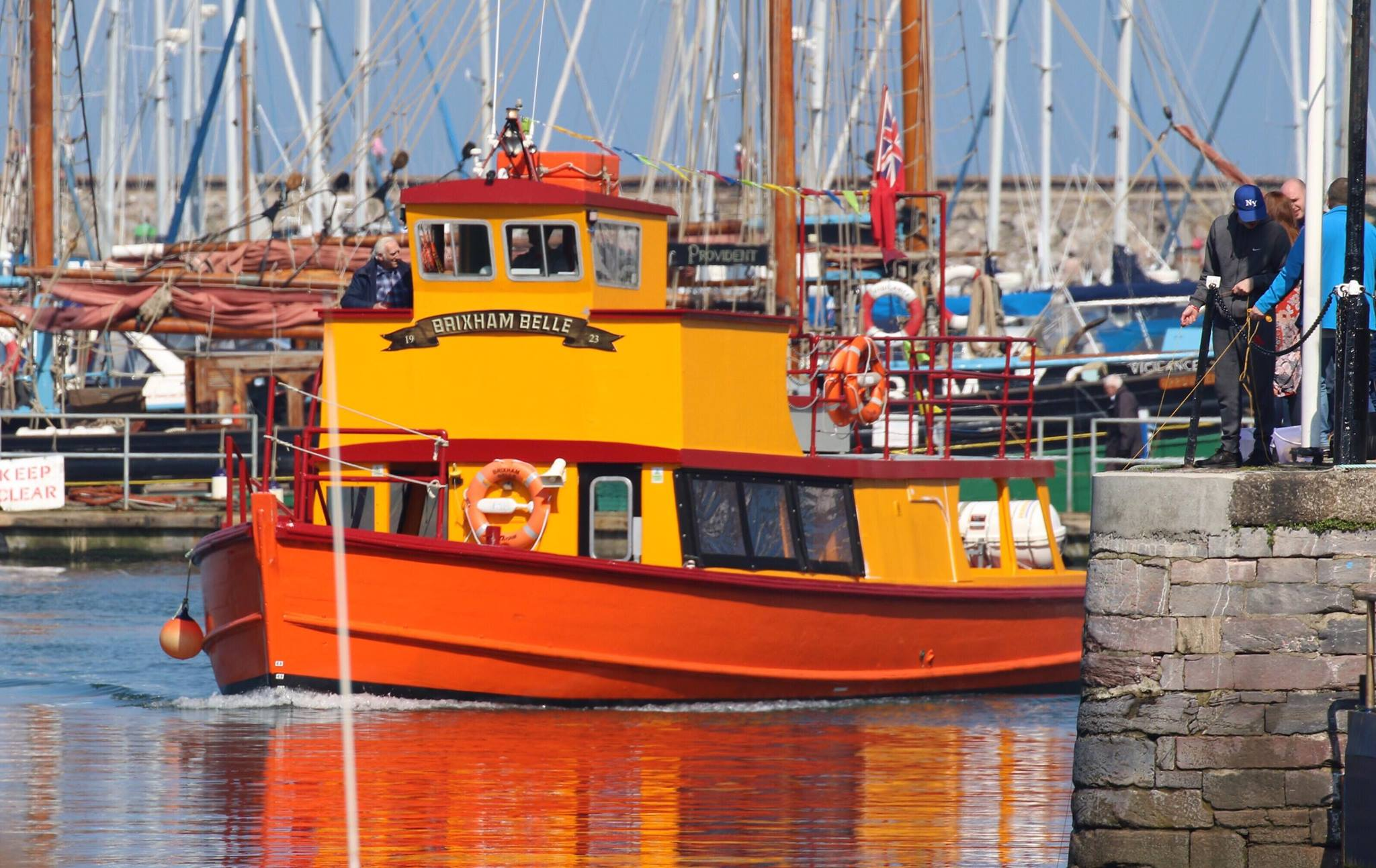 Brixham Belle after an evening cruise...